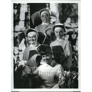 1968 Press Photo ABC presents The Flying Nun with Sally Field, Marge Redmond,