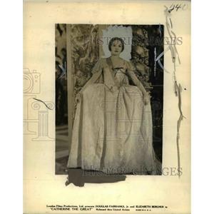 1934 Press Photo Elizabeth Bergner in Catherine the Great - cvp77204