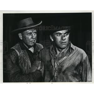 1965 Press Photo Ralph Bellamy & John Ireland in Rawhide - cvp80250