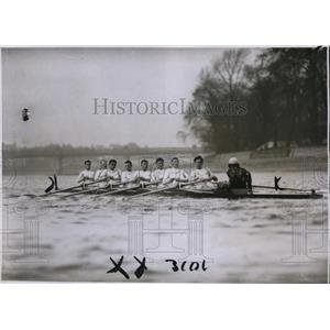 1930 Press Photo Cambridge crew D Haig-Thomas, HRN Rickett, WA Prideaux