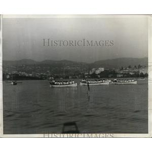 1930 Press Photo Annual girls crew races at Oakland CA Technial HS - nes46470