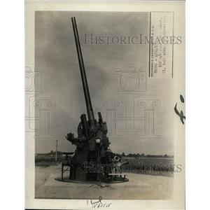1928 Press Photo Anti aircraft gun & mount that US war department adopted