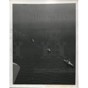 1939 Press Photo Hampton Roads VA US Fleet leaves for Pacific war zones
