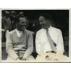 1928 Press Photo John Dawson and Fred J. Wright National Amateur Golf Tournament