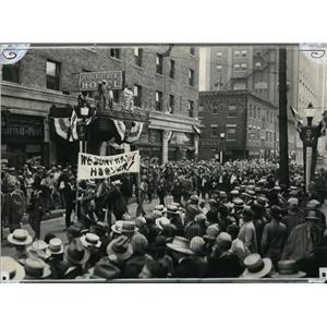 1926 Press Photo Farm delegation's parade to Republican convention in Kansas