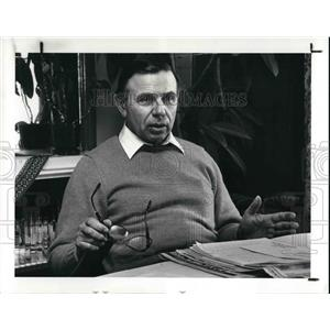 1987 Press Photo Bill Liscynesky, Ukrainian American Community - cva26256