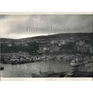 1986 Press Photo Capital of Torshavn Faeroe Island at Denmark - cva22535