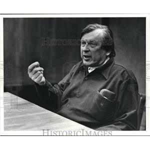 1981 Press Photo Dr. D. Carlton Gajdueek Noble Prize winning scientist at CWRU