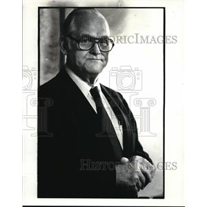 1984 Press Photo Gus Hall, Chairman of the Communist Party USA (CPUSA)