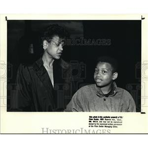 1988 Press Photo Joyce M. Harris and son Michael - cva16183