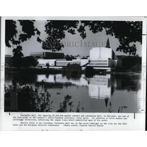 1986 Press Photo The Finlandia hall, world limelight as the site for the SALT
