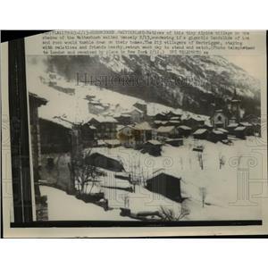 1959 Press Photo Alpine village of Herbriggen Switzerland  - nee92419