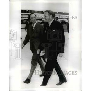 1970 Press Photo Pierre Trudeau Canadian Prime Minister with John Gorton