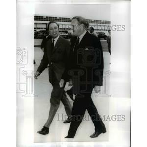 1970 Press Photo Pierre Trudeau Canadian Prime Minister leaves Australia