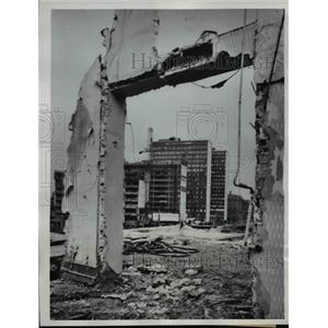 1960 Press Photo Ruins building in Stockholm Sweden for project Hotorg City