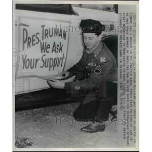 1946 Press Photo Arthur Williams former soldier now Chicago cab driver