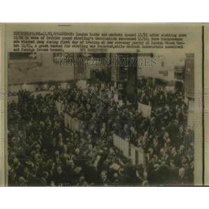1967 Press Photo London banks & markets reopen after devaluation of the pound