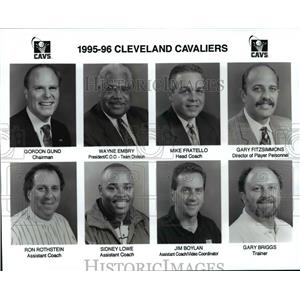 1995 Press Photo 1995-96 Cleveland Cavaliers - cvb57796