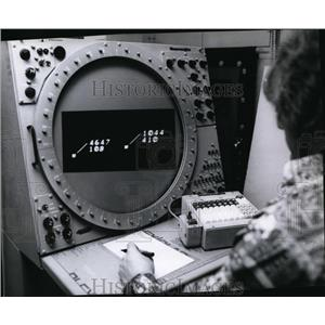 1978 Press Photo Spokane radar air controllers new computerized assistance