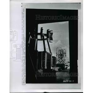 1958 Press Photo Las Vegas- Atomic Reactor is seen in background. - cvb58761