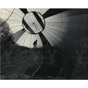 1984 Press Photo Dirk Bakker at 9th Annual Great Wisconsin Dells Balloon Rally
