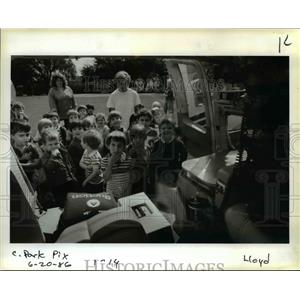 1986 Press Photo Students from the Fruit & Flower Child Care Center. - orb15789