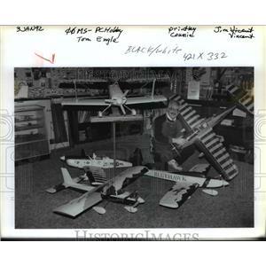 1992 Press Photo Tom Engel-Chipmunk plane - orb76435