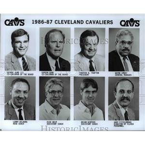 Press Photo Roster of the Cleveland Cavaliers management and coaching staff