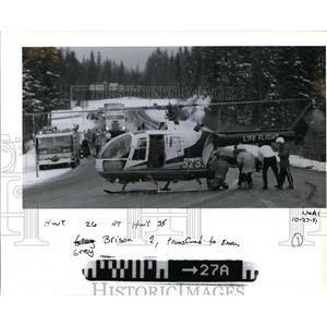 1991 Press Photo Life flight-Grey Brison - orb73444