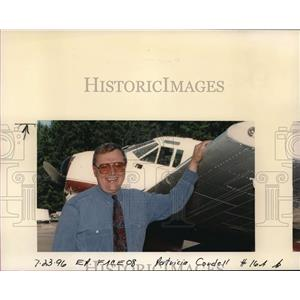 1996 Press Photo Jonathan A. Parker with Airplane - ora68221