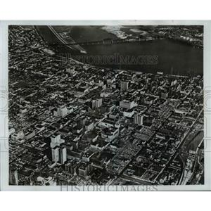 1970 Press Photo Ariel View of Louisville Kentucky - cvb58541