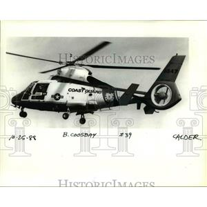 1988 Press Photo The French built Aerispatiale H-65A Dolphin rescue helicopter.