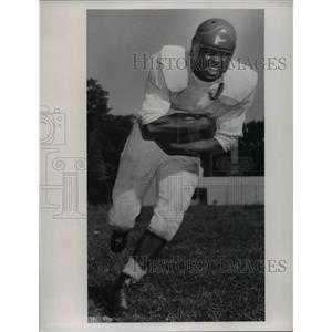 1953 Press Photo Jim Greene, halfback for John Marshall football team 1953