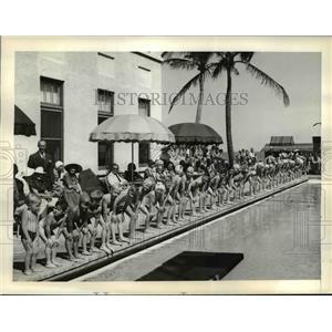 1938 Press Photo Junior Olympics swimming meet at Sun and Surf Club, Palm Beach