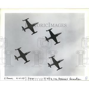 1988 Press Photo Planes In Diamond Formation - ora99499