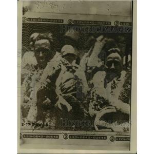 1927 Press Photo Art Goebel& WV Davies win Honolulu Air Derby - nee95465