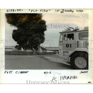 1987 Press Photo Fire drill at the Portland International Airport - orb36599