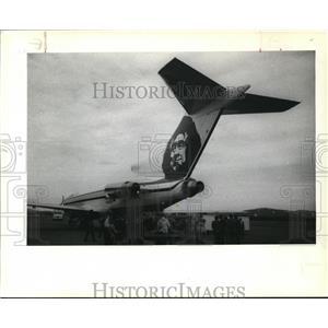 1989 Press Photo Alaska Airline Inaugural Flight Nome Kotzebue Anchorage