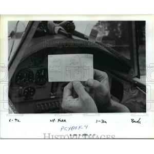 1992 Press Photo All The Maneuvers For The Yak Attack Show Are Jotted Down