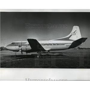 1974 Press Photo The Martin 404, a luxury airliner, parked at Oshkosh Airport