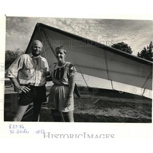 1986 Press Photo Mike Rabe Flew a State-record 122 Miles on a Hang Glider Flight