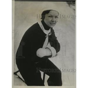 1934 Press Photo Eunice Schaller Snow Queen of 7th Michigan Winter Sports fest