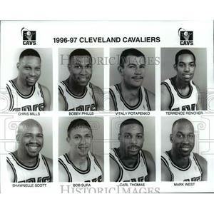 1996 Press Photo 1996-1997 Cleveland Cavaliers - cvb67091