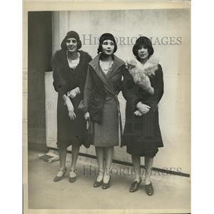 1929 Press Photo New York Jane Foster, Cornelia Nap and Kenelm Winslow NYC