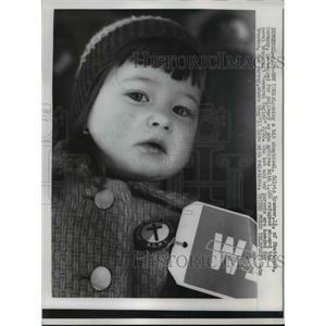 1957 Press Photo Silvia Kramser of Germany refugees aboard General Taylor