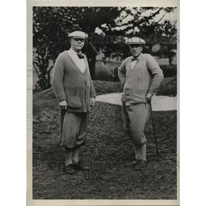 1932 Press Photo R.E. Knowles and Frank Lewis play at Belmont Manor in Bermuda
