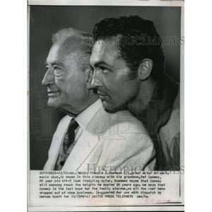 1958 Press Photo Francis X. Bushman & Grandson pat Conway of Tombstone Territory