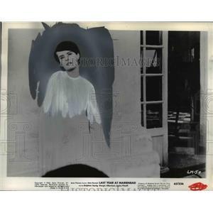 1963 Press Photo Delphine Seyrig stars in two Italian Films at Aladdin Theater.
