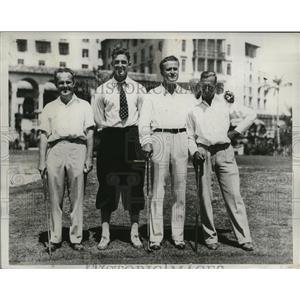 1933 Press Photo Finalists during Miami Biltmore Four Ball Golf Tournament