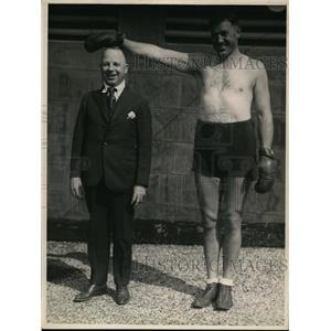 1922 Press Photo Boxer Bill Larue & his manager Kid Parker - net14077